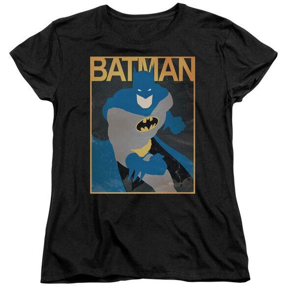 Batman Simple Bm Poster Short Sleeve Womens Tee T-Shirt
