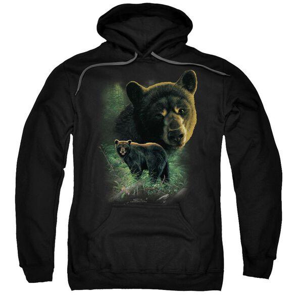 Wildlife Bears Adult Pull Over Hoodie