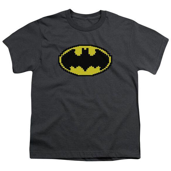 Batman Pixel Symbol Short Sleeve Youth T-Shirt