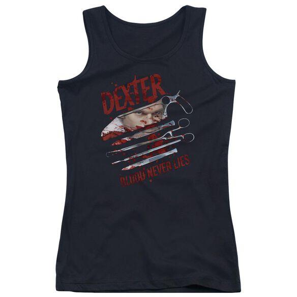 Dexter Blood Never Lies Juniors Tank Top