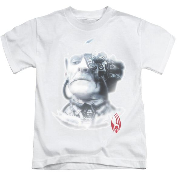 Star Trek Borg Head Short Sleeve Juvenile White T-Shirt