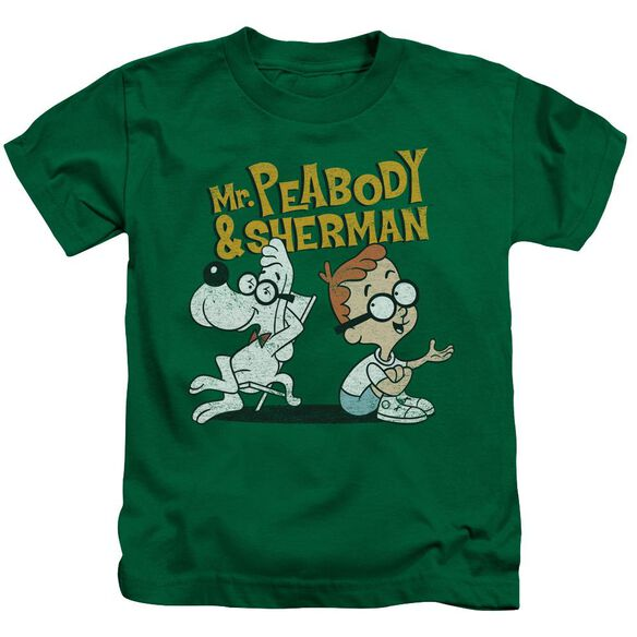 Mr Peabody & Sherman Deep Conversation Short Sleeve Juvenile Kelly T-Shirt