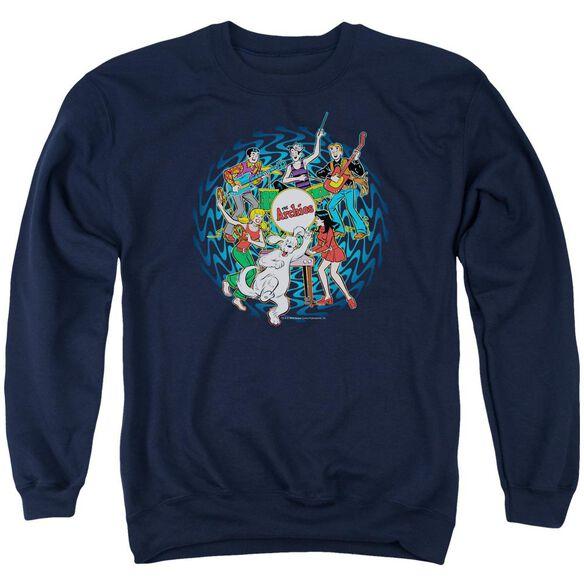 Archie Comics Psychadelic Archies Adult Crewneck Sweatshirt