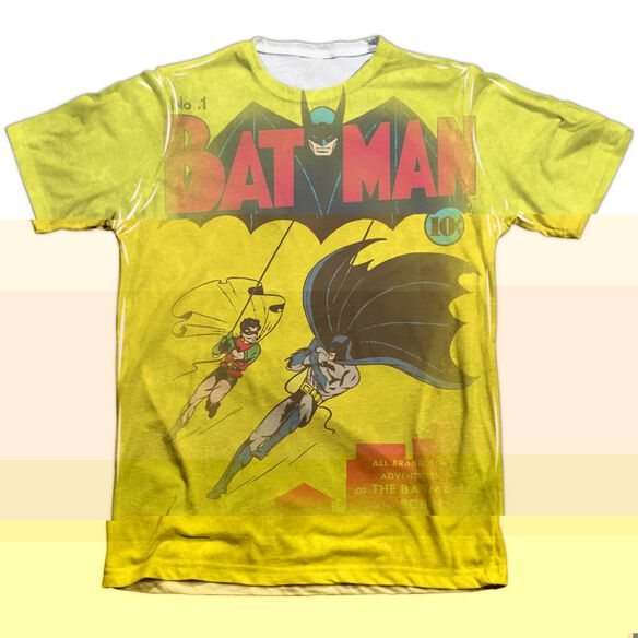 DC BATMAN NUMBER ONE - ADULT 65/35 POLY/COTTON S/S TEE - WHITE T-Shirt
