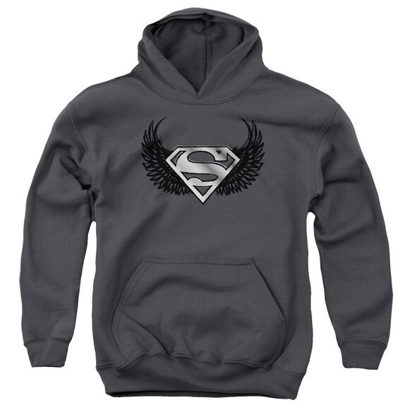 Superman Dirty Wings Youth Pull Over Hoodie