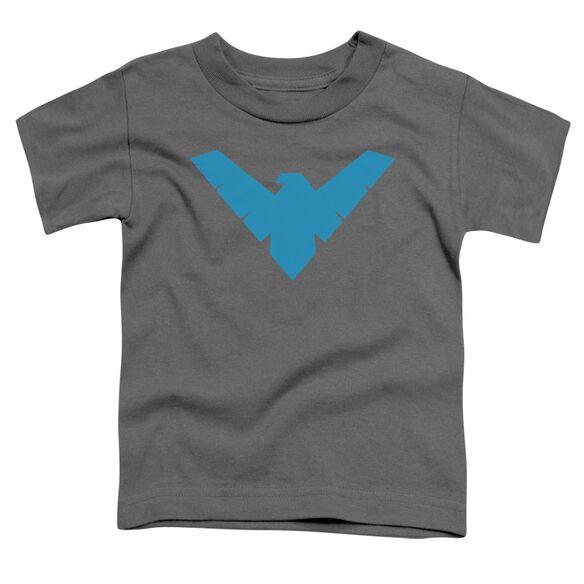 Batman Nightwing Symbol Short Sleeve Toddler Tee Charcoal T Shirt