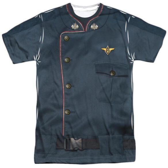 Battlestar Galactica Duty Blue Short Sleeve Adult Poly Crew T-Shirt