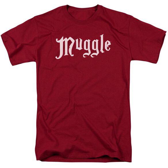 Harry Potter Muggle Short Sleeve Adult Cardinal T-Shirt