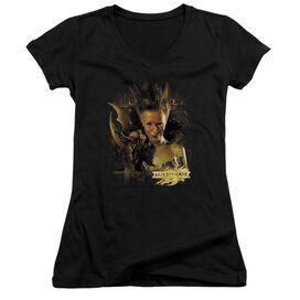 Mirrormask Queen Of Shadows Junior V Neck T-Shirt