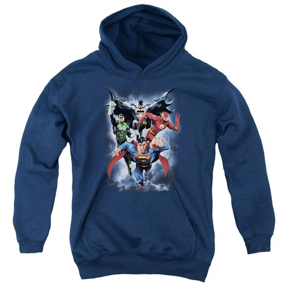 Jla The Coming Storm Youth Pull Over Hoodie