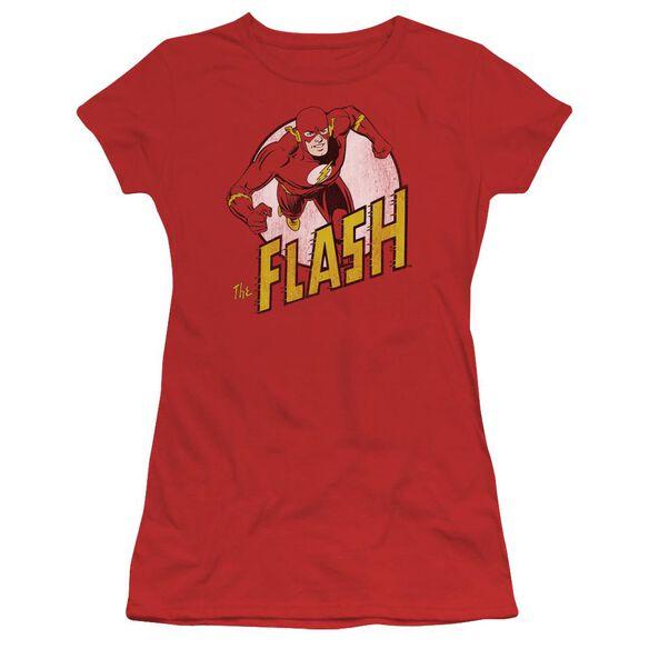 Dc The Flash Short Sleeve Junior Sheer T-Shirt