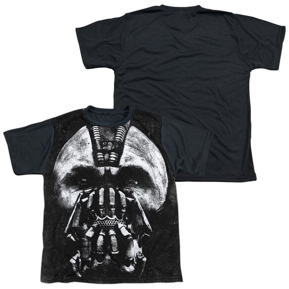 Dark Knight Rises Big Bane Head Short Sleeve Youth Front Black Back T-Shirt