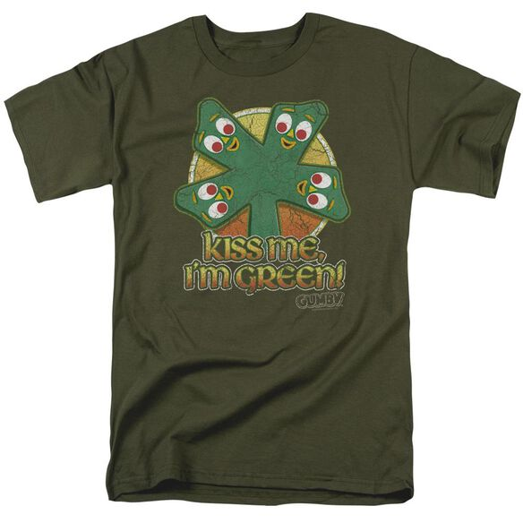 GUMBY KISS ME - S/S ADULT 18/1 - MILITARY GREEN T-Shirt