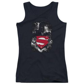 Superman Darkest Hour - Juniors Tank Top - Black