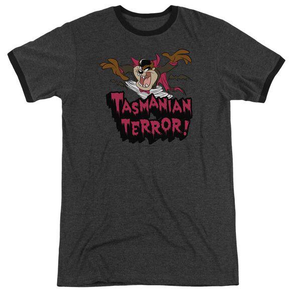 Looney Tunes Taz Terror Adult Ringer Charcoal