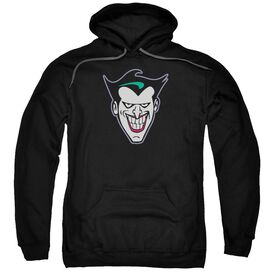 Batman The Animated Series Joker Face Adult Pull Over Hoodie