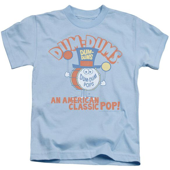 Dum Dums Classic Pop Short Sleeve Juvenile Light Blue T-Shirt