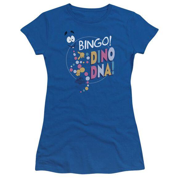 Jurassic Park Bingo Dino Dna Short Sleeve Junior Sheer Royal T-Shirt
