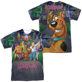 Scooby Doo Amusement Park (Front Back Print) Short Sleeve Adult Poly Crew T-Shirt