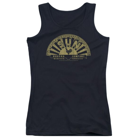 Sun Tattered Logo Juniors Tank Top