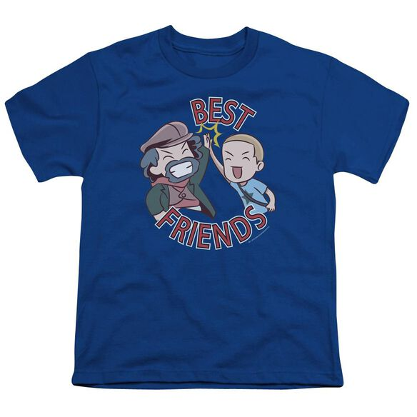 Valiantbest Friends Emoji Short Sleeve Youth Royal T-Shirt