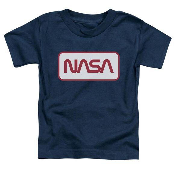 Nasa Rectangular Logo Short Sleeve Toddler Tee Navy T-Shirt