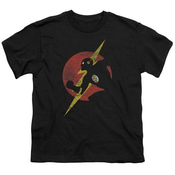 Jla Flash Symbol Knockout Short Sleeve Youth T-Shirt