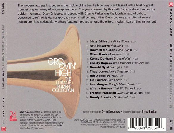 Groovin High Trumpet Coll
