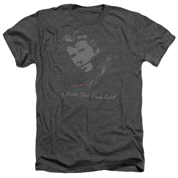 Happy Days Cool Fonz - Adult Heather - Charcoal