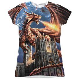 Anne Stokes Dragons Fury Short Sleeve Junior Poly Crew T-Shirt