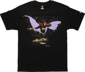 Batgirl Side Splatter Cover T-Shirt