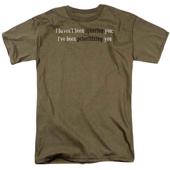 Prioritizing You Short Sleeve Adult Safari T-Shirt