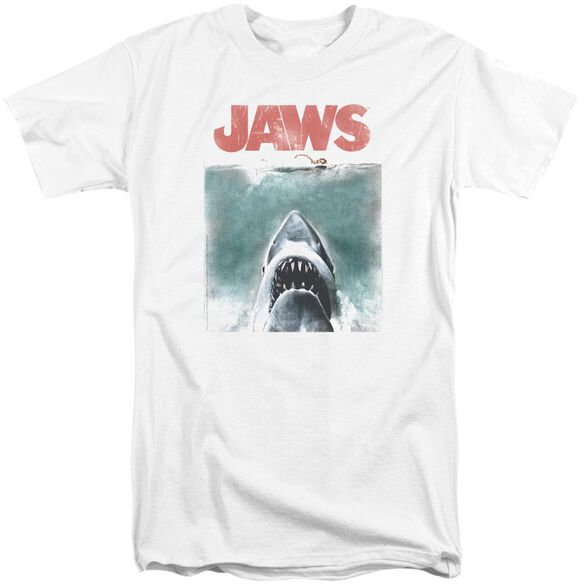 Jaws Vintage Poster Short Sleeve Adult Tall T-Shirt