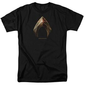 Justice League Movie Aquaman Logo Short Sleeve Adult T-Shirt