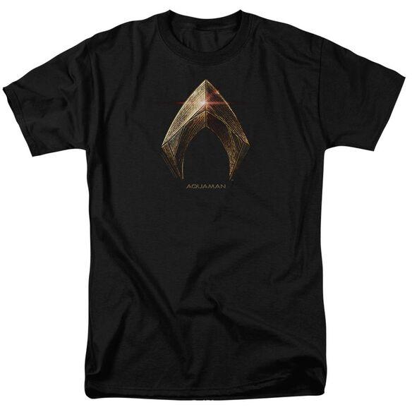 Justice League Movie Aquaman Logo Short Sleeve Adult T-Shirt