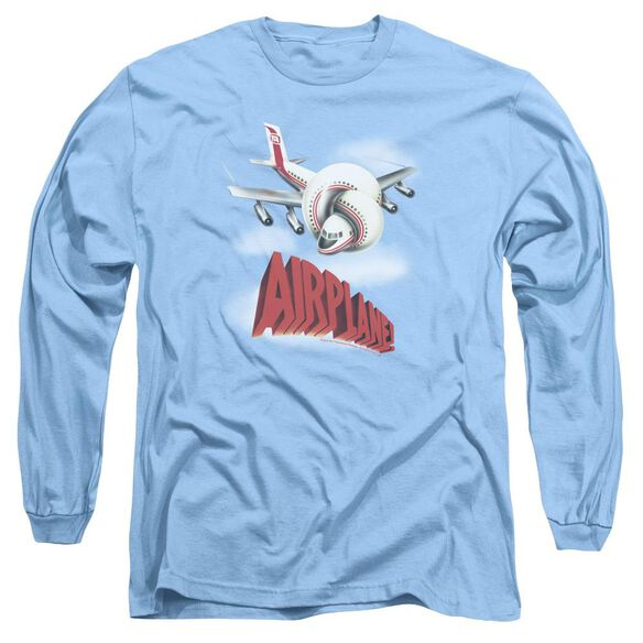Airplane Logo Long Sleeve Adult Carolina T-Shirt
