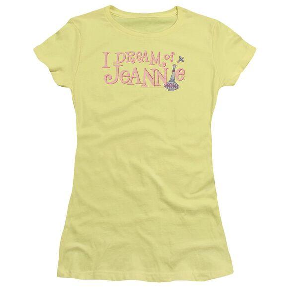 I Dream Of Jeannie Retro Logo Hbo Short Sleeve Junior Sheer T-Shirt