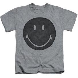Smiley World Rough Face Short Sleeve Juvenile Athletic Heather T-Shirt