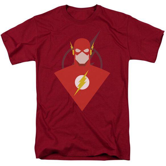 Jla Simple Flash Short Sleeve Adult T-Shirt