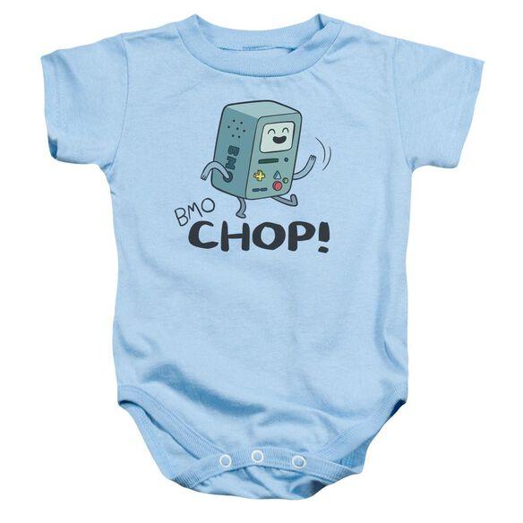 Adventure Time Bmo Chop Infant Snapsuit Light Blue