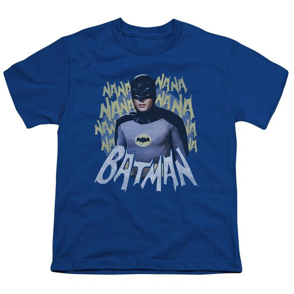 Batman Classic Tv Theme Song Short Sleeve Youth Royal T-Shirt