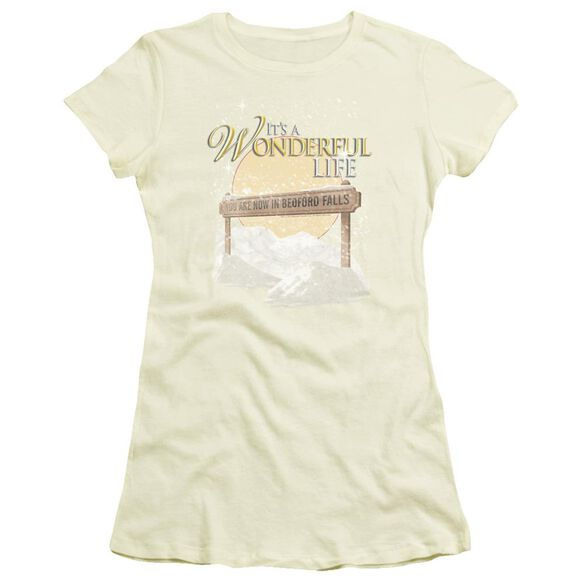 It'S A Wonderful Life Wonderful Story Short Sleeve Junior Sheer T-Shirt