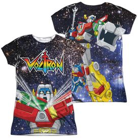 Voltron Space Defender (Front Back Print) Short Sleeve Junior Poly Crew T-Shirt