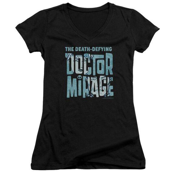 Doctor Mirage Character Logo Junior V Neck T-Shirt