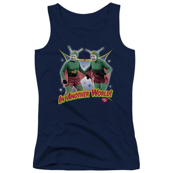 I Love Lucy In Another World Juniors Tank Top