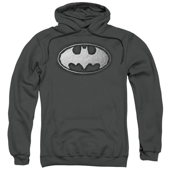 Batman Duct Tape Logo Adult Pull Over Hoodie