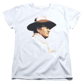 John Wayne Painted Profile Short Sleeve Womens Tee T-Shirt