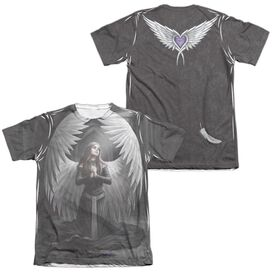 Anne Stokes Prayer For The Fallen (Front Back Print) Adult Poly Cotton Short Sleeve Tee T-Shirt