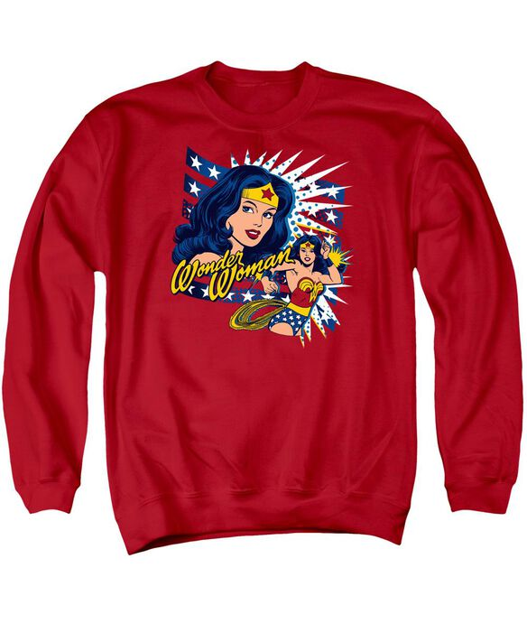 Dco Pop Art Wonder Adult Crewneck Sweatshirt