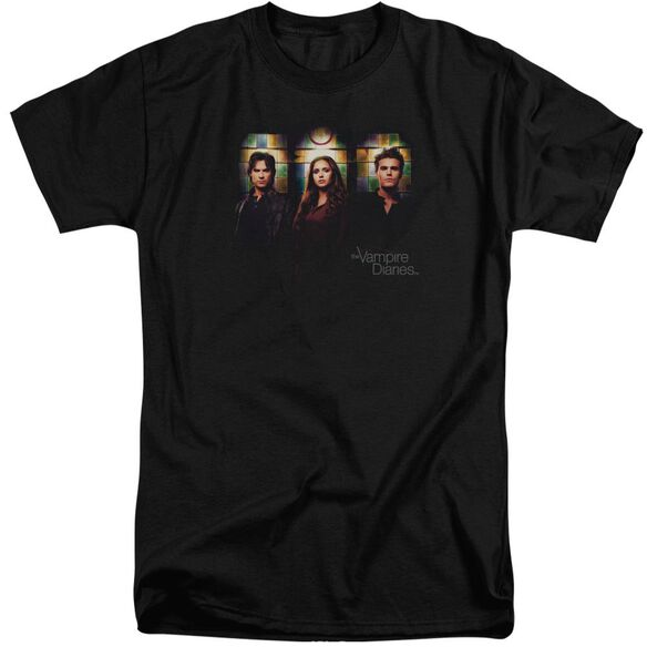 Vampire Diaries Stained Windows Short Sleeve Adult Tall T-Shirt